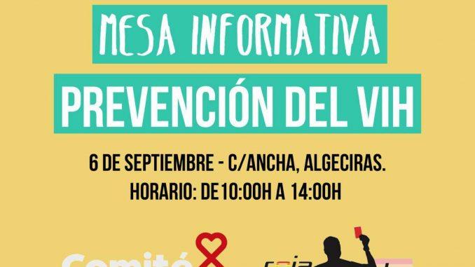 Mesa Informativa con Roja Directa Andalucía LGTBI